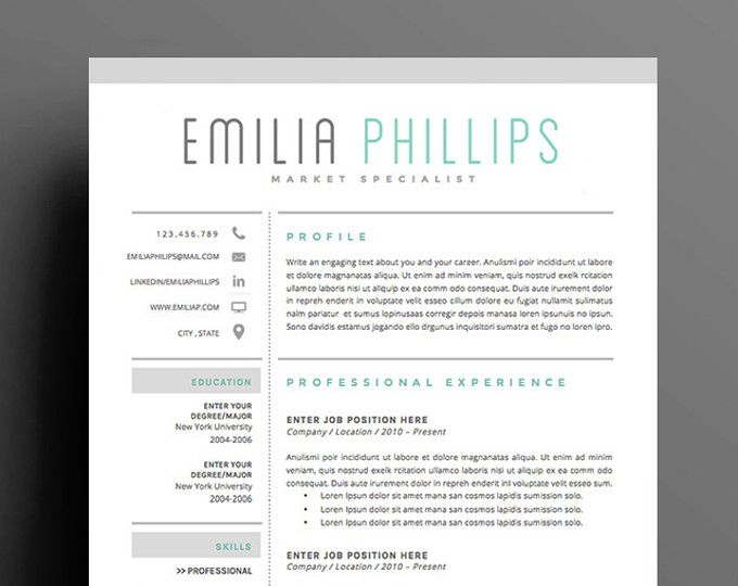 35 best images about Resume on Pinterest - resume templates for designers