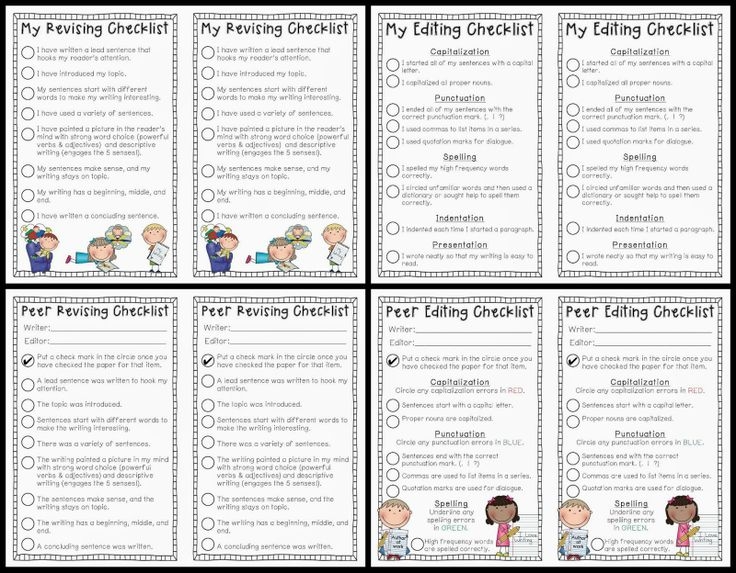 editing checklist Persuasive essay editing checklist 1 edit for basic mechanics: check for: spelling errors, capital letters, run-ons, fragments, awkward sentences, redundant ideas or.