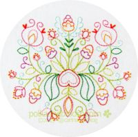 Summer Bouquet Embroidery Pattern PDF