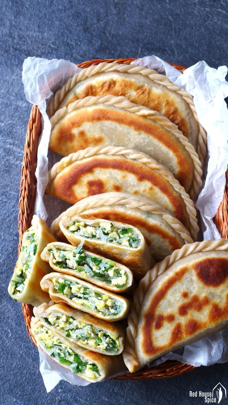 Chinese chive pockets (韭菜盒子)   – Asia Food