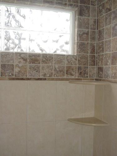 36 best images about master bath on pinterest bathroom for Glass block window design ideas