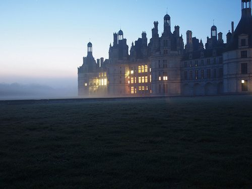 Sunrise at Chambord Castle by Polantwerp on Flickr.
