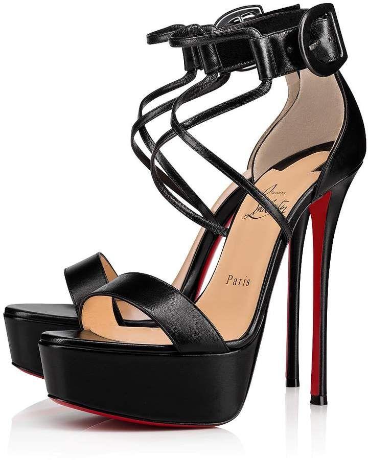 buy popular de08f d97af Choca 150 Black Leather - Women Shoes - Christian Louboutin ...