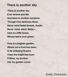 There Is Another Sky Poem by Emily Dickinson - Poem Hunter