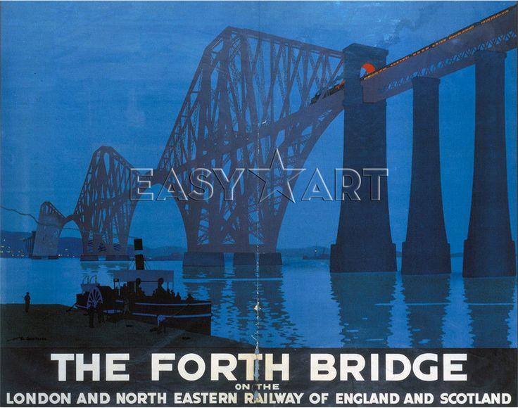 The Forth Bridge - At Night Art Print by National Railway Museum Easyart.com