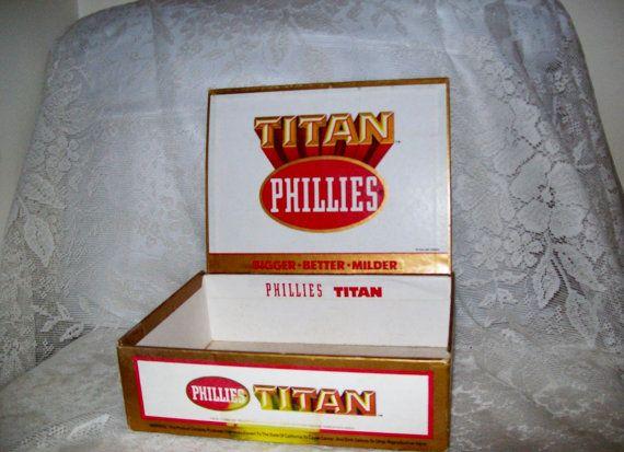 Vintage Titan Phillies Cigar Box Only 5 USD by SusOriginals, $5.00