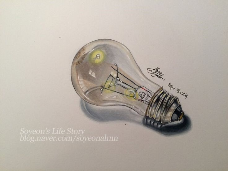 #Lightbulb #Prismacolor pencil drawing #illustration