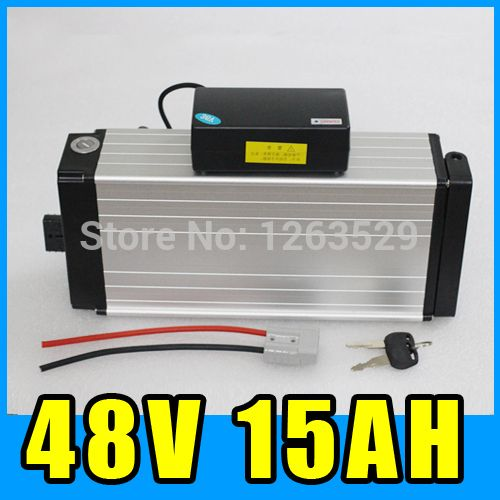 48V 15AH Rear rack Lithium Battery  Aluminum alloy Battery Pack  54.6V Electric bicycle Scooter E-bike Free Shipping ** AliExpress Affiliate's Pin. Click the VISIT button to view the details