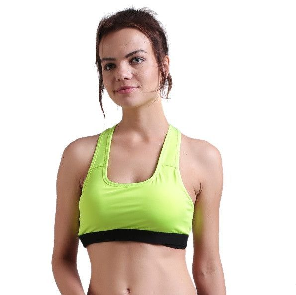 Use Coupon code CHK20 and get 20% discount on online shopping of Sportswear Gymwear Strechable Green Sports Bra For Women