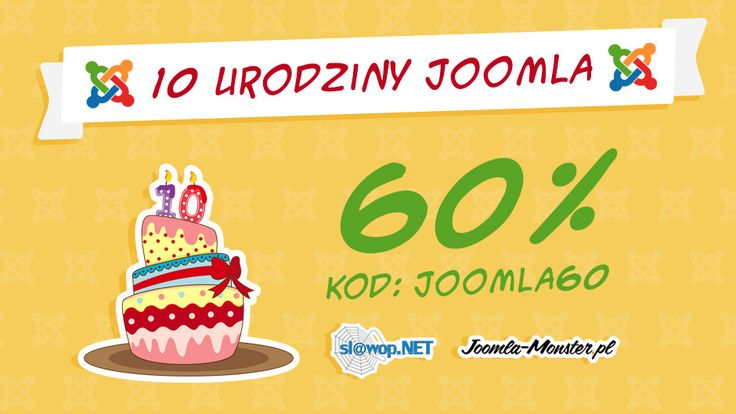 Twój dzisiejszy kod rabatowy ;-) Zdobądź Zestaw Najlepszych Ebooków (http://www.slawop.net/kurs-joomla-zestaw-najlepszych-e-bookow) i Ekstra Wypasione Szablony dla Joomla! (https://www.joomla-monster.pl)