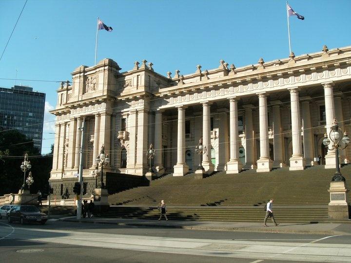 Parliament Building in Melbourne, Australia
