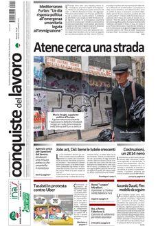 Prima pagina di Conquiste del 19 febbraio