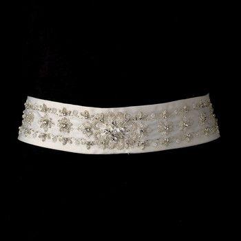 Glass Beaded Bridal Sash Belt Wedding Accessories