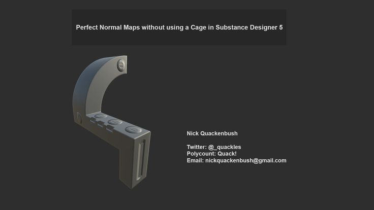 Video Tutorial on Baking Perfect* Normal Maps in Substance Designer 5, Nick Quackenbush on ArtStation at https://www.artstation.com/artwork/video-tutorial-on-baking-perfect-normal-maps-in-substance-designer-5