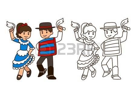 Resultado de imagen para bailarines de cueca para colorear