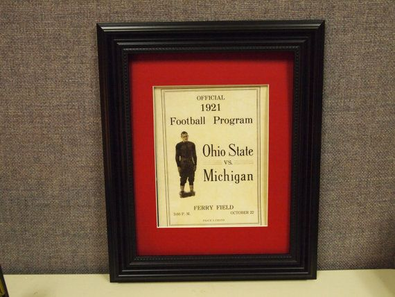 Vintage 1921 Ohio State-Michigan Official football program print ready for framing. $24.99, via Etsy.