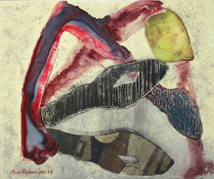 Peindre avec de la cendre/ acrilique sur toile, cendre, Maia Stefana Oprea,  en savoir plus: http://www.maiaoprea.ro/fr/projets/2013/gaspillage-premiere-scene