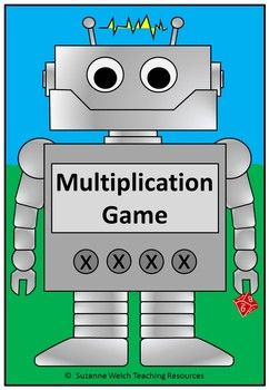 A fun multiplication board game to reinforce knowledge of facts.  Great as a math rotation activity, follow-up activity, early finisher task, etc.Included:   12 black/white game boards (x1  x12)  12 colour game boards (x1  x12)  2 bonus activity sheets  multiplication grids Refer to the images above to see examples.How to Play: A game for 2 players.