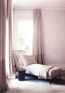 banded curtains -