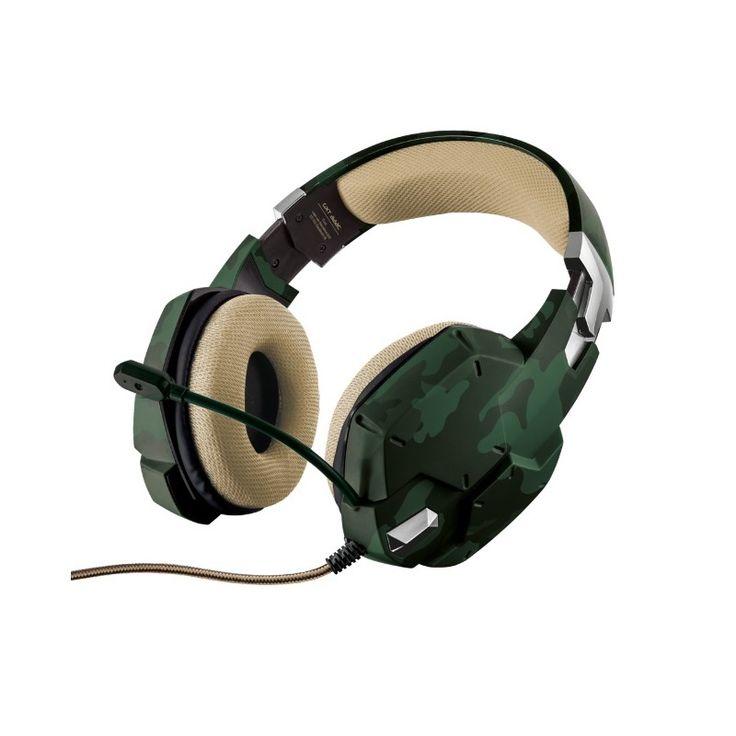 Trust GXT 322 Dynamic Green - Párnázott gaming fejhallgató, flexibilis mikrofon és erőteljes basszus. Csatlakoztatható PC/Mobilkészülék, és XBOX ONE -hoz.