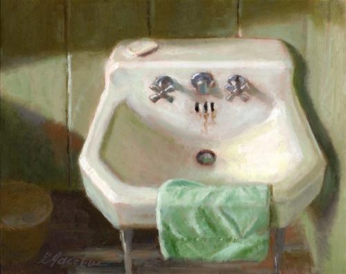 """""""VINTAGE SINK"""" - Original Fine Art for Sale - © Linda Jacobus"""