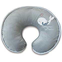 Boppy Nursing Pillow and Positioner, Luxe Chevron Whales/Gray