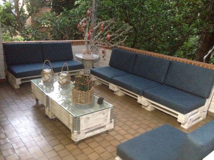 Sala terraza estibas pallets