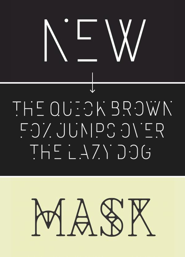 two free fonts! really digging 'mask'