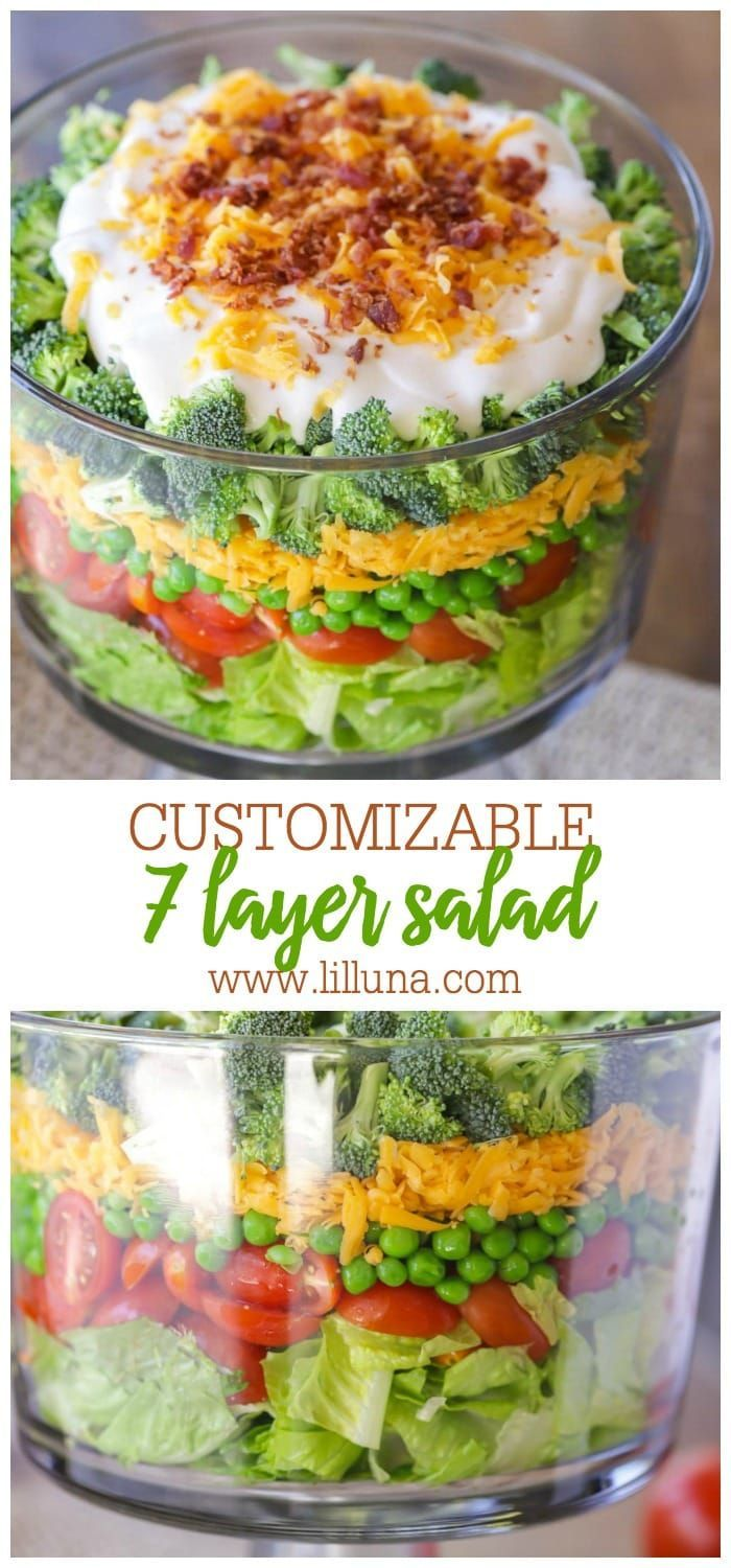 Layered Salad In 2020 Layered Salad Layered Salad Recipes Seven Layer Salad