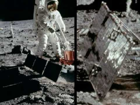(375) Moon landing hoax - ceiling reflections in solar panels edited out of pictures - YouTube