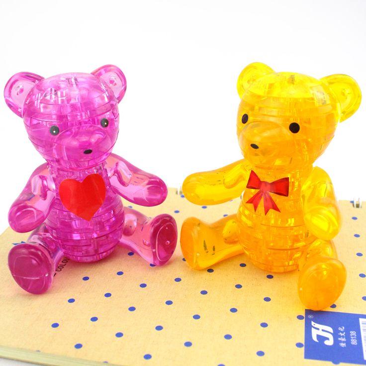 original 3d crystal puzzle teddy bear instructions