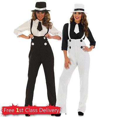 Ladies #gangster fancy #dress costume 4pc #outfit 1920s moll hen night uk 8-26,  View more on the LINK: http://www.zeppy.io/product/gb/2/171733433870/