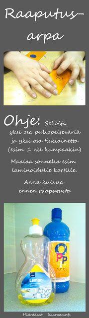 Tee itse raaputusarpa pullopeiteväristä ja tiskiaineesta http://www.haaraamo.fi/
