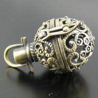 2 шт. филигрань лаки волшебный ящик античный бронзовый медальон очарование подвески 21 x 32 мм желание Box D405-2