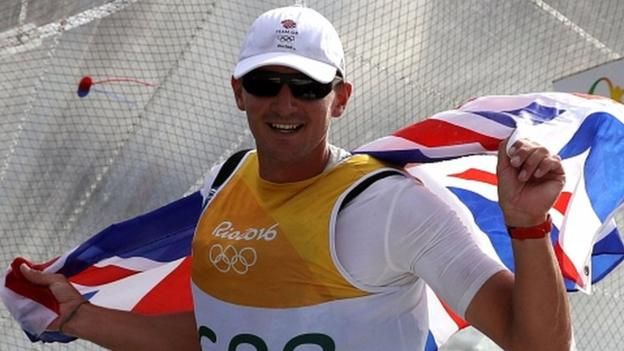 Giles Scott sealed gold in sailing's Finn class to give Great Britain their fifth successive Olympic title in the event.  The Weymouth-based 29-year-old succeeds Sir Ben Ainslie, who won three previous titles, and emulates Iain Percy in 2000.
