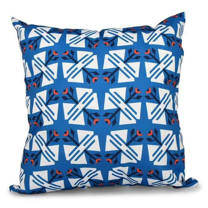 Willa Jodhpur Ditsy Geometric Outdoor Throw Pillow