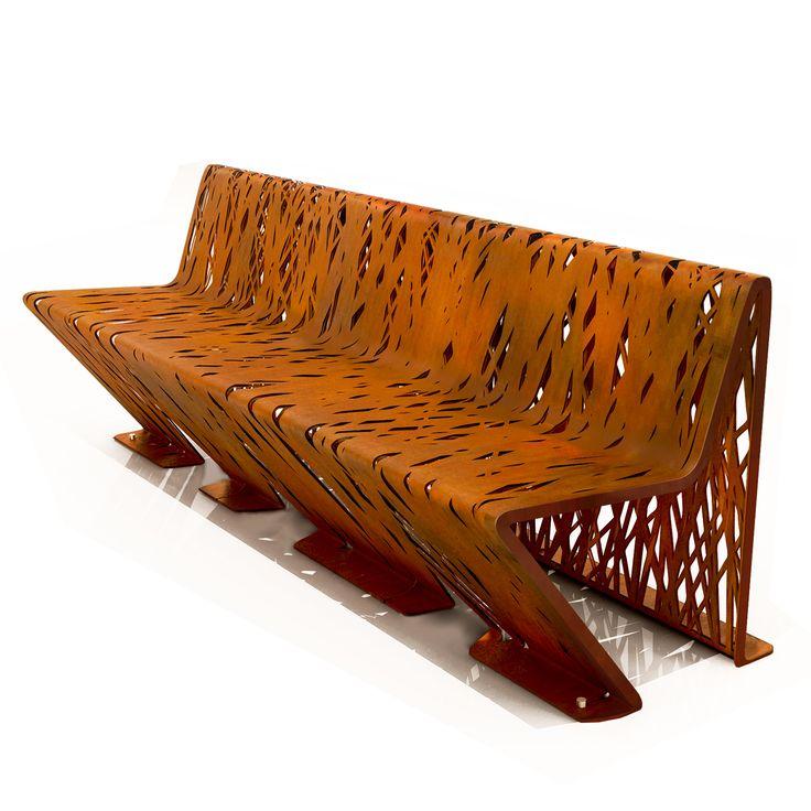 Crossed Bench | LAB23   Street Furniture