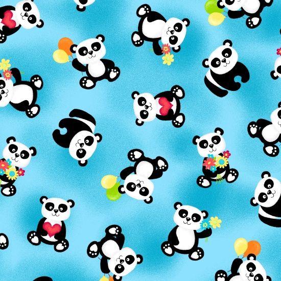 F1166-16 , Panda-monium - 2 ply Flannel by First Blush Studio, Henry Glass & Co., Inc.