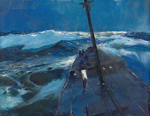 "John Whorf, ""Ship in Rough Water"" 1930"