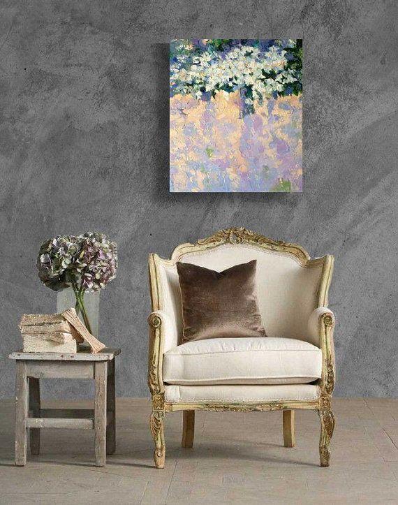 Lilac flowers, lilac, flowers, oil on canvas, original painting, contemporary art, modern art, original design ,  art for home, interior