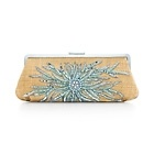 Tiffany & Co.   Item   Holly sunburst clutch in raffia and leather with Tiffany Blue® embroidery.   United States