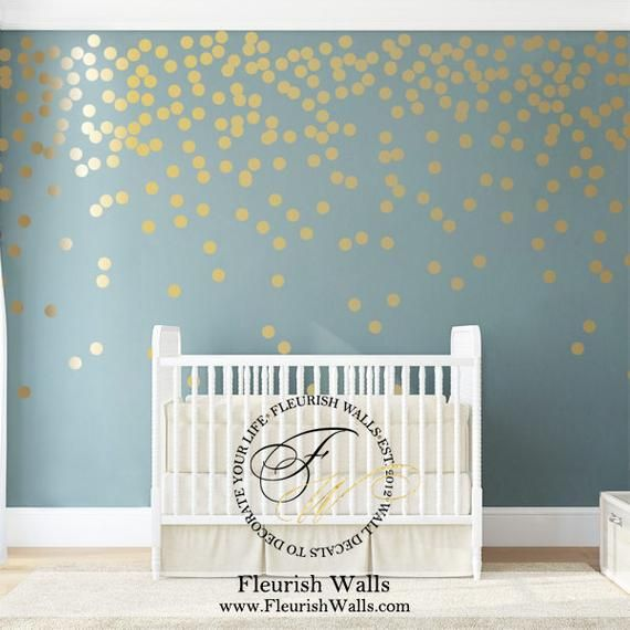 Wall Decals S Room Gold Polka Dots
