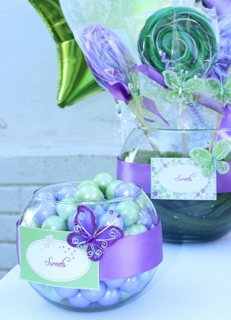 Candy at a Tinkerbell Party #tinkerbell #partycandy