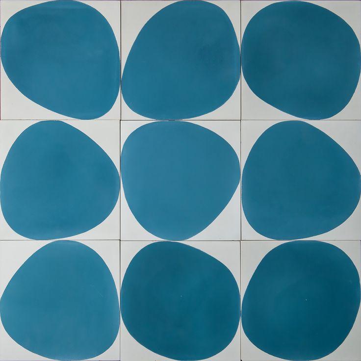 Stone – ivory/medium blue (16mm thick) | MarrakechDesign