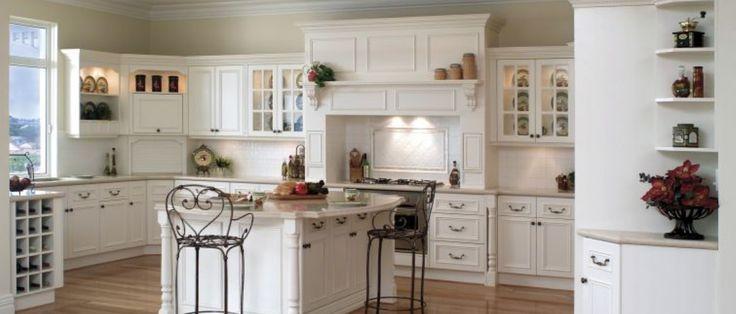 Beyaz kantri mutfak dolabı modelleri