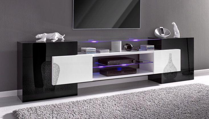 Amazing TECNOS TV Lowboard schwarz Hochglanz Jetzt bestellen unter https moebel ladendirekt de wohnzimmer tv hifi moebel tv lowboards uid udbdce aa