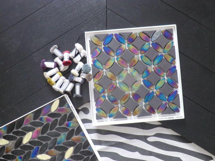 Studio dei materiali per parquet nero e mosaico www.archedy.com