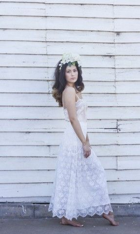 Violet & I Gardenia Skirt in white handcrafted lace