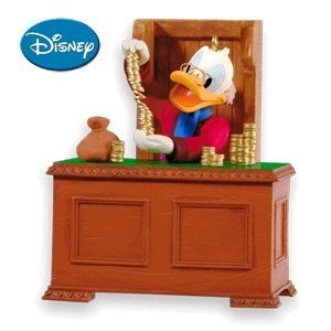 Disney Scrooge McDuck Ebenezer Scrooge #2 In Series 2010 Hallmark Ornament. One of the great 2010 Hallmark ornaments