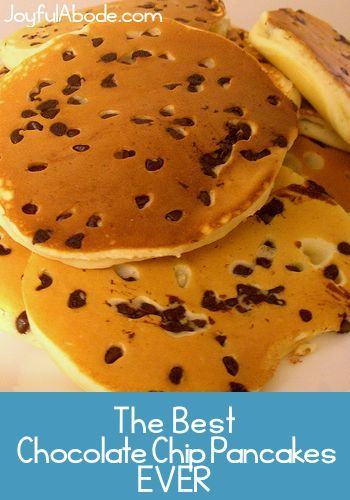 If you're looking for the very best chocolate chip pancakes, look no further. Easy, quick, fluffy chocolate chip pancakes from scratch. The BEST recipe.
